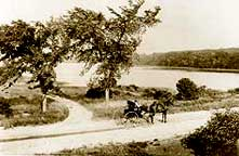 View of Dennis Pond from Willow Street, 1800's