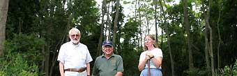 Bill Prinz, Hugh March, and Connie Boyce at Green Hill Farm, land preserved by YCT and the Carter family
